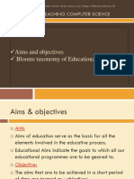 Blooms Taxonomy-Educational Objectives