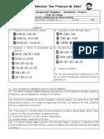Ficha 1 - Matemática - 2018 - Adición,. Sustracción y Multiplicación