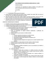 Orientações Trabalho Check List Nr18