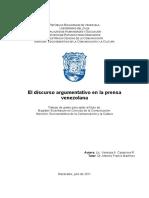 13. El Discurso Argumentativo en La Prensa V