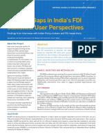 Principal Gap in FDI Statistics
