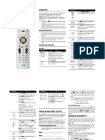 Sat Go Universal Remote Control User Guide