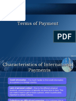 International Terms of Payment