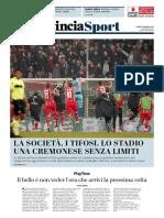 La Provincia Di Cremona 22-01-2018 - Sport
