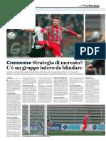 La Provincia Di Cremona 22-01-2018 - Serie B - Pag.1
