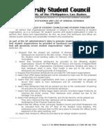 Uplb Student Agenda v.3 (August 2009)