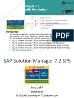 SAP Solution Manager 7.2 System Monitoring