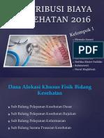 Distribusi Biaya Kesehatan 2016