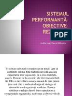 Sistemul Performanță Obiective Rezultate Spor