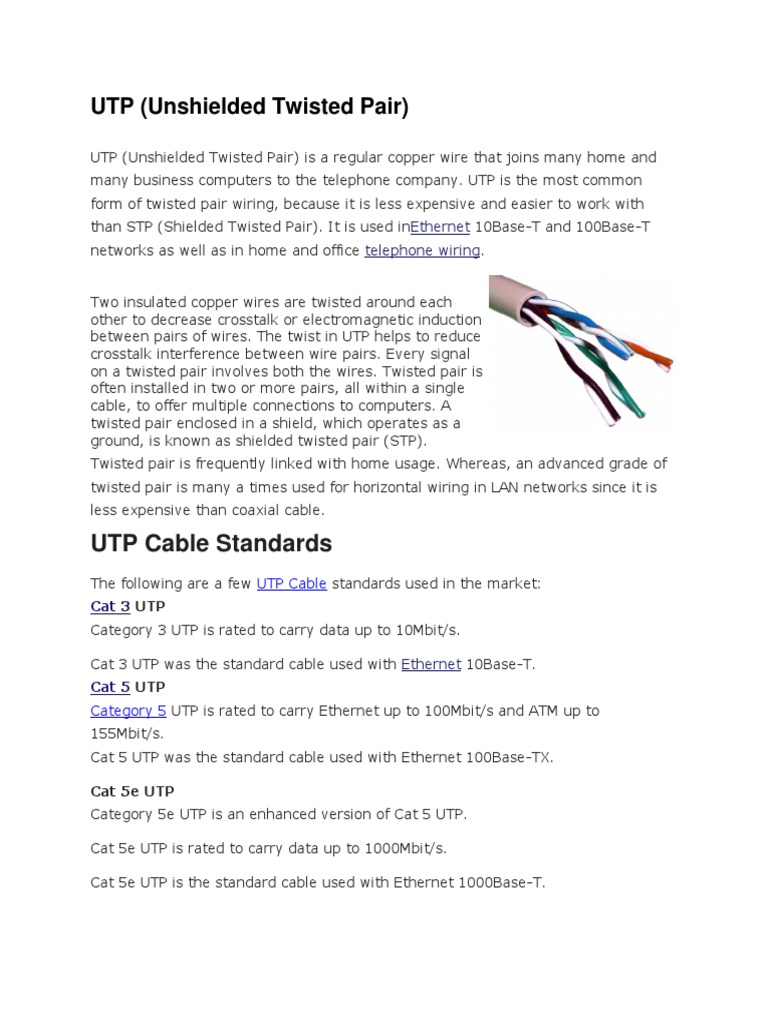 Utp Cable Wiring