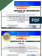 Certificate 2017
