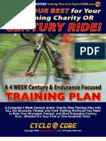 4 Weeks Pre Race Century Plan
