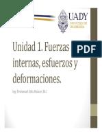 Unidad 1 Fuerzas Internas, Esfuerzos y Deformaciones