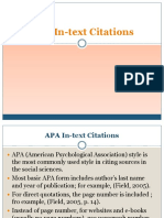 APA in-text Citations