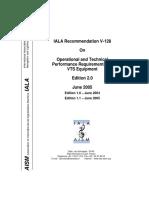 V-128 IALA Recommendation on Equipment VTS