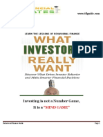 Behavioural Finance Guide the Financial Literates1