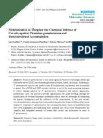 Metabolomics_Defense of Cereals Against Fusarium Graminearum and Deoxynivalenol Accumulation