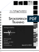 Spokesperson Training