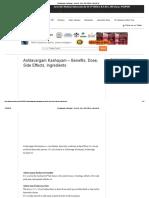 Ashtavargam Kashayam - Benefits, Dose, Side Effects, Ingredients