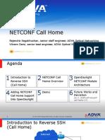 Adva Netconf CallHome