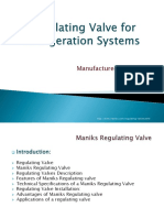 Regulating Valve for Refrigeration Systems Manufactured by Maniks