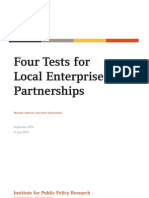 Four Tests for Local Enterprise Partnerships