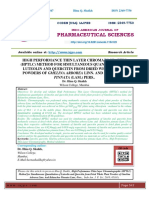 HIGH PERFORMANCE THIN LAYER CHROMATOGRAPHIC (HPTLC) METHOD FOR SIMULTANEOUS QUANTITATION OF LUTEOLIN AND QUERCITIN FROM DRIED WHOLE PLANT POWDERS OF GMELINA ARBOREA LINN. AND KALANCHOE PINNATA (LAM.) PERS..