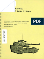 m1 Abrams Lessons Learned