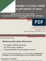 Discursive Strategies in Online Media