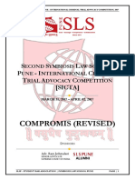 Compromis (Revised) - Second Symbiosis Law School, Pune - International Criminal Trial Advocacy Competition, 2017