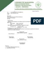 Surat Peminjaman Alat Medistra Cup 2014
