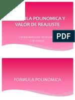 Formula Polinomica y Valor de Reajuste