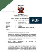 207-2004-SUNARP-TR-T (Restricciones a Las Facultades Del Titular - 94 Pleno)