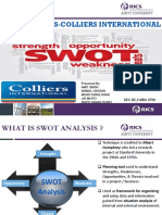 Colliers Swot Analysis