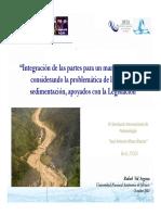 Integración de Las Partes Para Un Manejo de Cuencas Considerando La Problemática de La Erosión y Sedimentación Apoyados Con La Legislación