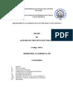 Silabo Análisis de Circuitos Eléctricos I  2016-I.doc