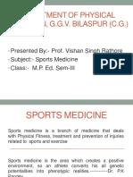Prof. v. S. Rathore - Sports Medicine