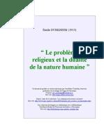 Durkheim E le problème religieux et la dualité de la nature humaine.doc
