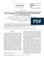 Complementary Use of Transmission Electron Microscopy and Atom Probe Tomography for the Investigation of Steels Nanostructured by Severe Plastic Defor