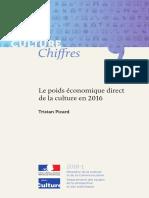 Poids économique direct de la culture en 2016