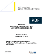 MFIN6201 Empirical Techniques and Application in Finance S12017