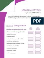 Medias Et Vous Questionnaire