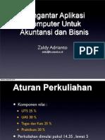 Pengantar Aplikasi Komputer Untuk Akuntansi Dan Bisnis