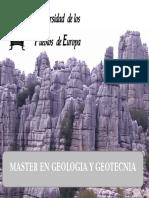 Master Geologia Geotecnia