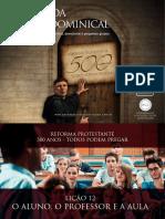 Slides - Revista 500 Anos de Reforma Protestante - Lição 12