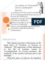 Teachers as Person in Authority