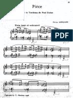 Messiaen - Piece Pour Le Tombeau de Dukas