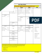 Timetable Fall 2017