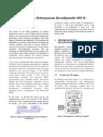 A Low-Energy Heterogeneous Reconfigurable DSP IC