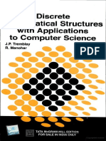 Discrete Mathematical Structures with Applications to Computer Science by J.P. Tremblay, R. Manohar.pdf
